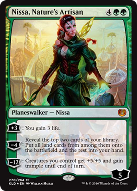 nissa natures artisan green planeswalker magic