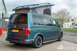 Black Silver Curtains by Bamboo Garden Green Vw T6 Campervan With Black Leather