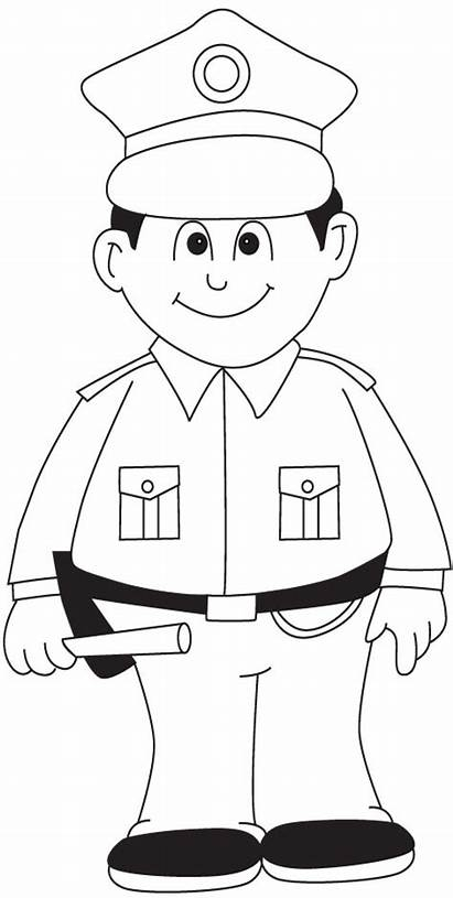 Policeman Police Coloring Pages Printable Officer Sheets
