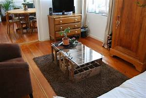 Table Basse Caisse Bois : caisses bois r aliser un d cor un peu loft ~ Nature-et-papiers.com Idées de Décoration