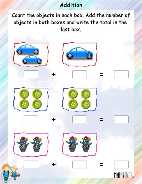 addition objects worksheets free math for addition best