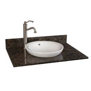 31 vanity top with sink 31 quot x 22 quot granite vanity top for semi recessed sink bathroom