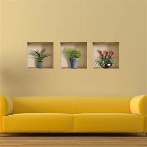 Vase Plant 3D Riding Lattice Wall Decals PAG Removable ...