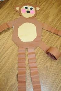 monkey craft idea  kids crafts  worksheets