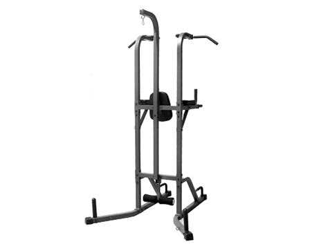 power tower  heavy bag stand workout station vertical knee raise dip station push