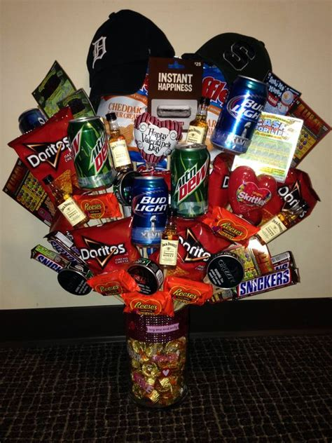 cheap  easy valentines gift baskets  men