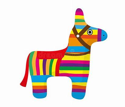 Pinata Donkey Clipart Vector Background Colorful Mexican