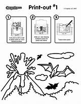 Coloring Pages Explosion Crayola Volcanic Printable Pdf sketch template