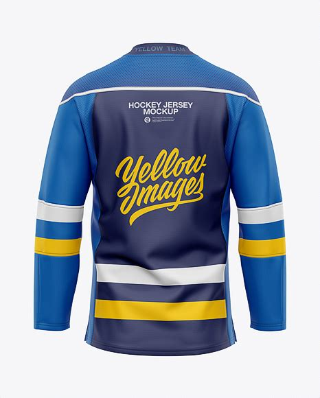 Jersey mockups in just a few clicks. Mens Hockey Jersey Back View Jersey Mockup PSD File 210.8 MB
