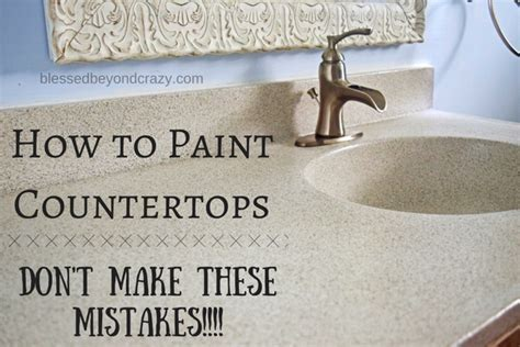 How to Paint a Countertop   Don't Make these Mistakes!!!