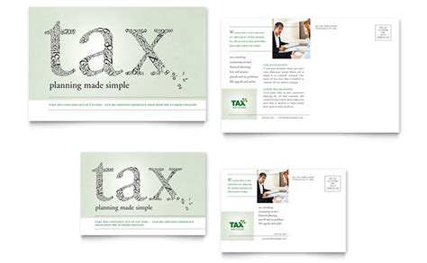 accounting tax services postcard template design