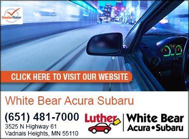 white bear acura subaru subaru acura service center