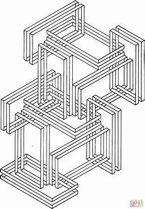 Optical Illusion 24 Coloring Page Free Printable