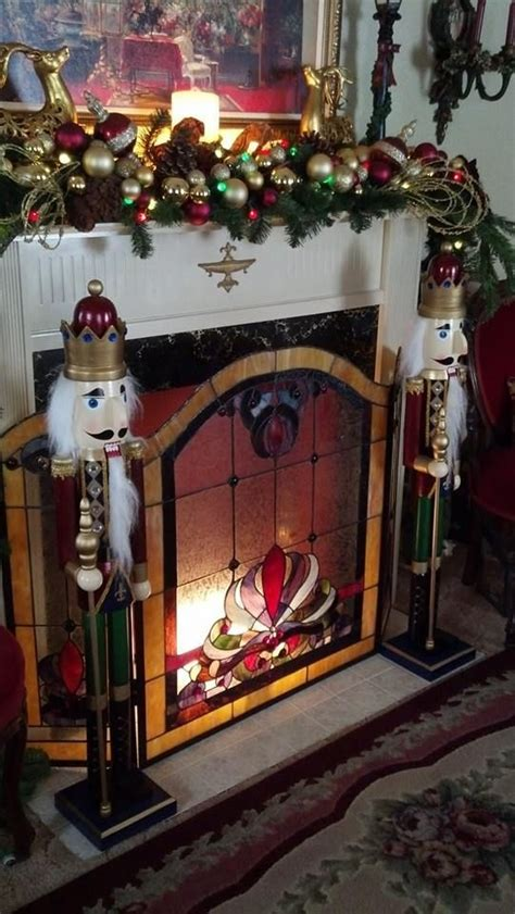 fireplace nutcracker nutcrackers and foyers on