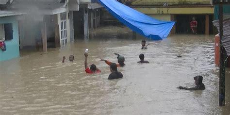ribuan rumah terendam banjir  kota manado gorontalo