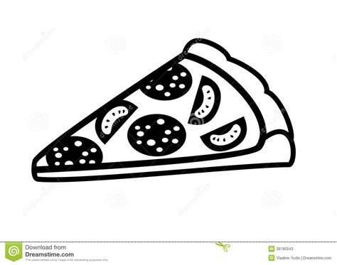 restaurant cuisine 9 morceau de pizza illustration de vecteur image 39780043