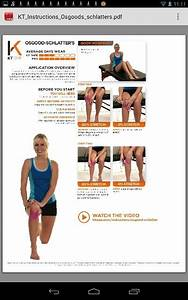 Osgood Schlatters Kt Tape Pinterest Physical Therapy