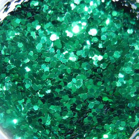 Emerald Green Glitter, Large Hex Cut, .5oz