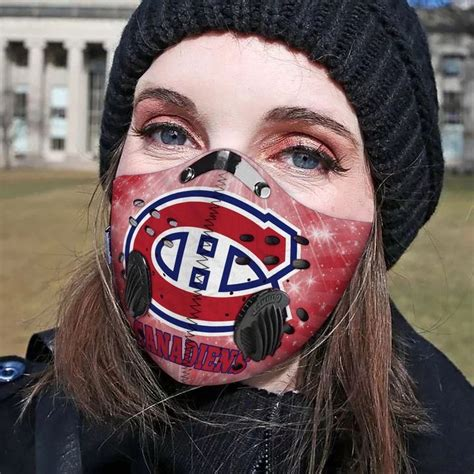 montreal canadiens filter face mask saleoff
