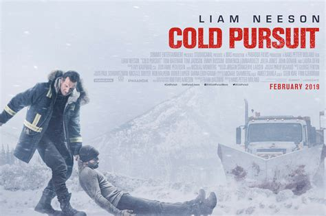 cold pursuit poster featuring liam neeson