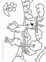 Deer Coloring Pages Baby Cartoon Cute Printable Draw Drawings Print Easy Popular Library Clip Getcolorings Coloringhome sketch template