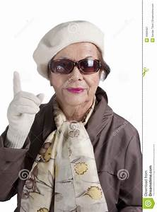 Senior Woman Posing To Cam Royalty Free Stock Photography ...