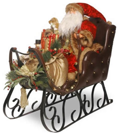 30 in santa on sleigh christmas decoration traditional
