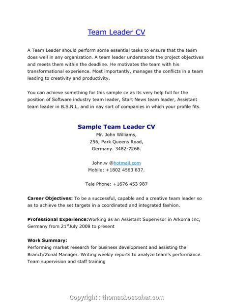 Sle Resume Cover Letter by Styles Sle Description Warehouse Lead Team Leader