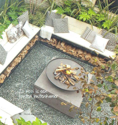 Sitzecke Mit Feuerschale by Gem 252 Tliche Feuerstelle Garten Holz Sitzecke Pflanzen