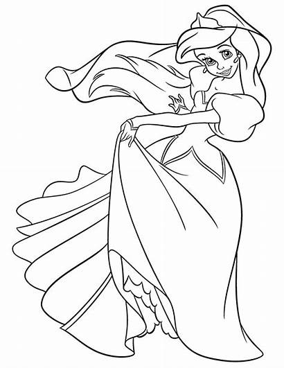 Ariel Mermaid Coloring Pages Printable Disney Princess