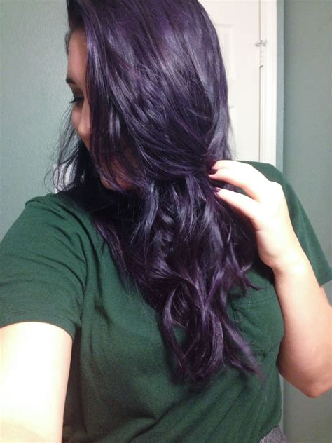 Ultra Brown Hair Dye by Manic Panic Ultra Violet Mixed With Manic Panic Purple