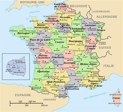 Carte De Region Et Departement Et Chef Lieu by Infos Sur Departement Arts Et Voyages