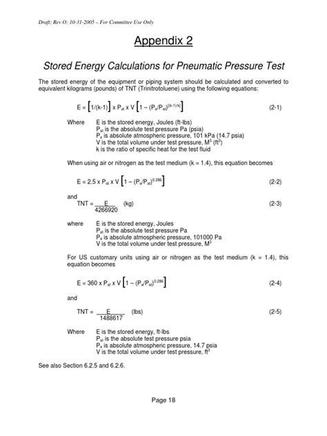 Pneumatic Test - Calculation | Pascal (Unit) | Risk