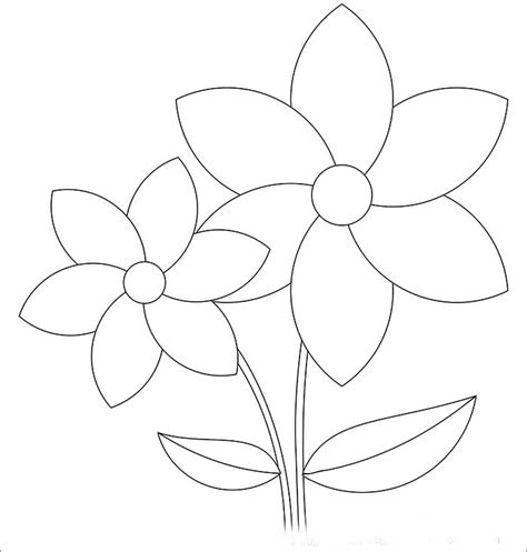 free printable flower template flower template free templates free premium templates