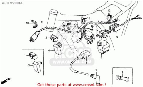 honda xr200r 1986 g usa wire harness buy wire harness spares