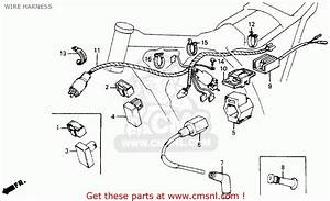 Honda Xr200r 1986  G  Usa Wire Harness