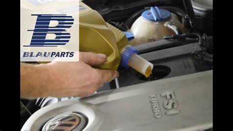 change audi vw motor oil  filter  fsi