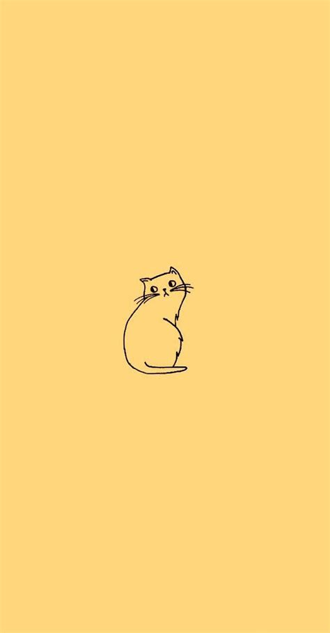 aesthetic minimalist cat wallpaper  cat wallpaper