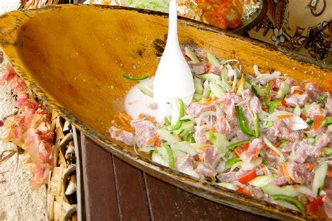 cuisine signature a taste of tahiti poisson cru tahiti com