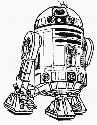 Coloring Pages Robot Wars Star R2 D2