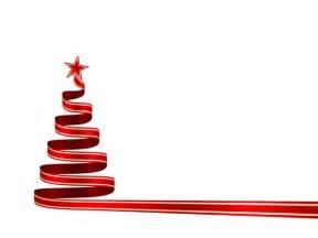 Ribbon Christmas Tree White Background