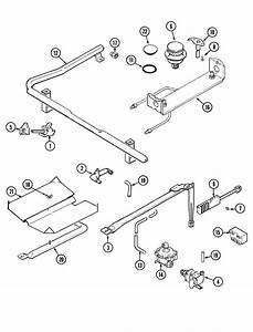 Gas Controls Diagram  U0026 Parts List For Model Mgr5750ada