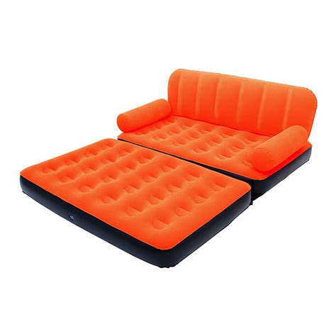 canapé gonflable extérieur canapé lit gonflable 4 en 1 orange pompe incluse