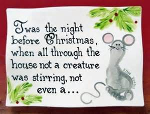 twas the night before christmas mouse foot print painted zebra hand prints onto ceramics