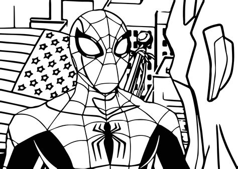 avengers spiderman coloring page wecoloringpage com