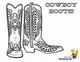 Cowboy Coloring Pages Boot Boots Cowboys Template Hat Western Colouring Ride Yescoloring Clipart Em Horseshoe sketch template