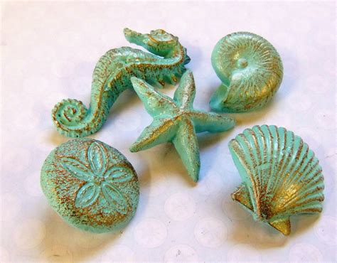 Seashell Cabinet Knobs And Pulls drawer pulls knobs seashells starfish seahorse sand dollar