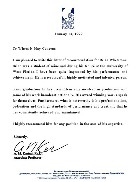 professional recommendation letter 6 professional