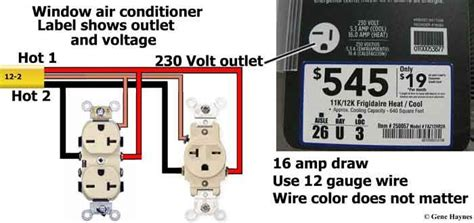 Window Air Conditioner Outlet Cable House Wiring