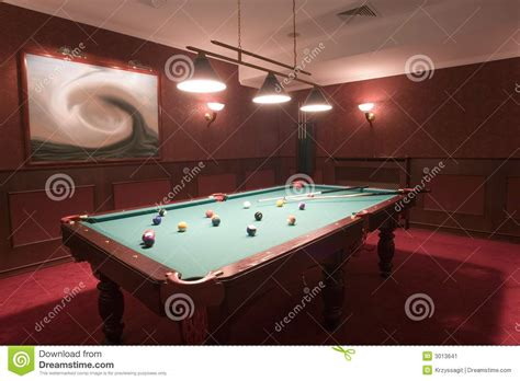 space for pool table pool table in elegant red room stock image image 3013641